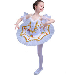 Wholesale Yellow Ballet Kid Dress - Professional White Swan Lake Ballet Tutu Costume Girls Children Ballerina Dress Kids Ballet Dress Dancewear Dance Dress For Girls 4Color 006