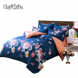 Wholesale blue floral duvet cover - OVERSTEN Palace Style Double Single Bedding Set Twin Queen King Size Duvet Cover Set Floral Paern Bedding Kit Bed Fabric