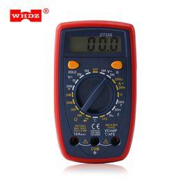 medidor de medição de tensão Desconto WHDZ Digital Multímetros Backlight Display Voltage Tester Voltage Tester Medidor de Bolso Ampere DC AC Portátil Ferramenta Elétrica Backlight LCD