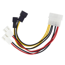 Wholesale Fan Pin - IDE Molex 4-pin to Case cooling Fan 3-pin TX3 Multi-Fan Out Power Adapter Converter Cable w  Speed Reduction ,2x5V 2x12V