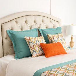 Wholesale Throw Backs - Geometric Style Printed Cushion Cover Home Sofa Decorative Throw Pillowcase Bedroom Car Waist Back Pillow Cover Case 30*50cm 45*45cm 60*60cm