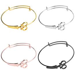 2019 bracelets ciseaux d'argent Femmes Newfangled Ciseaux Bracelets Alliage Bracelets Or Argent Noir Rose Or Charme Unique Bracelets Bijoux De Mode Cadeau promotion bracelets ciseaux d'argent