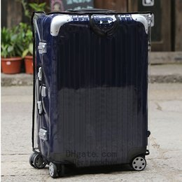 """großhandel weiße geschenk-tags Rabatt Klare Schutzhülle aus PVC für RIMOWA Salsa Deluxe 20 """"26 '' 28 '' 30 '' 32"""" Etui Schützen und schmücken Sie Ihre Koffer Nützlichkeit"""