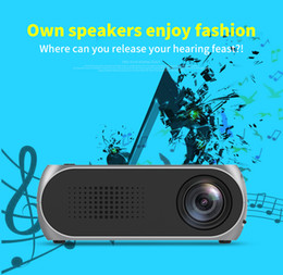 Wholesale Wholesale Home Theater Speakers - YG320 Portable LED Mini Projector Home Theater Cinema 1080P Video HDMI USB Pocket Proyector Built-in speaker