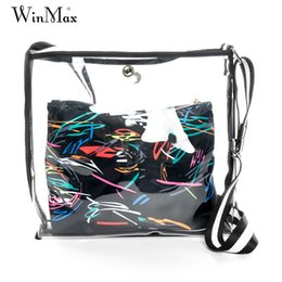 Дешевые сумки высокого качества онлайн-Winmax Fashion Handbags High Quality Transparent Women's Shoulder Messenger Bag Cheap  Women Beach Bag Casual Shopping
