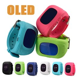 Wholesale Android Agps - Kids Smart Watch OLED Full Screen Q50 GPS AGPS LBS SOS Children Anti-Lost SIM Phone SmartWatch Tracker Locator GSM Call for Android & IOS