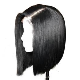 pelucas de encaje completo Pelucas delanteras de encaje Bob humano corto alrededor del cabello del bebé Pelucas de cabello natural pre arrancadas para mujer desde fabricantes