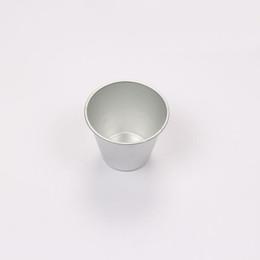 Wholesale mini pies - Mini Deepen Round Cup Shape Smooth Plain Aluminium Alloy Pizza Pie Pan Jelly Tart Mold Baking Mould ZA6366