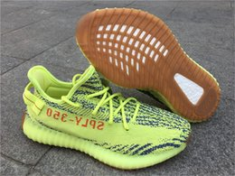 Wholesale Fabric Charcoal - 2017 B37572 Semi Frozen Yellow 350 V2 Boost Blue Zebra B37571 Blue Tint Sneakers B37573 AH2203 CHARCOAL GREY Violet Size US 5-13