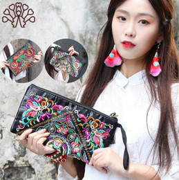 multi compartment handbags Coupons - NEw Women Ethnic National Retro Butterfly Flower Bags Handbag Coin Purse Embroidered Lady Clutch Tassel Small Flap Summer Bolsa Sale