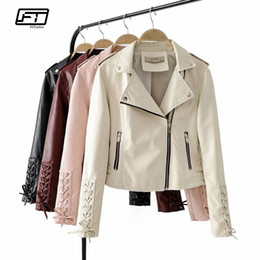 d78fd19f7c4 Fitaylor Women Faux Soft Leather Jacket Turn-down Collar Pu Motorcycle  Female Black Punk Short Jacket Zipper Bomber Outerwear discount faux  leather bomber ...