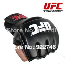 2019 luvas de luvas de soco Atacado-2018 NOVO! Luvas de boxe MMA / extensão de couro de pulso / MMA meio lutando Luvas de boxe / Luvas de Treinamento de Competição / M