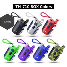 innokin cool kit de départ de feu Promotion Authentique Kit de démarrage Kangvape TH710 avec batterie TH-710 Box Mod de 650 mAh pour atomiseur de cartouche CE3 K1 d'une épaisseur de 0,5 ml, 100% d'origine