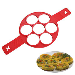 Wholesale Ring Cupcakes - Silicone 7 Circle Egg Pie Cake Mold Baking Non Stick Would For Decoration Baking Omelet Hash Browns Cupcake Small Pastry Cookies