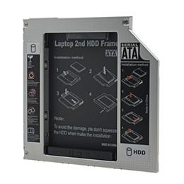 """Ide hdd caddy online-Für Laptop ODD CD DVD ROM optische Bucht Aluminium Universal IDE zu SATA 3.0 2. HDD Caddy 9,5 mm 2,5 """"SSD Gehäuse HDD Gehäuse"""