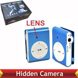 Wholesale Hidden Video Clips - Factory Wholesale Price Mini Camera MP3 Player Hidden Spy Cameras mp3 music Clip Spy Recorder Video Camcorder Portable Security Cam