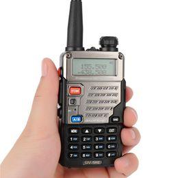 rádio portátil de banda dupla uhf vhf Desconto Baofeng UV-5R Portátil Uv5r Walkie Talkie Rádios em Dois Sentidos128CH Dual Band VHF / UHF 136-174 / 400-520 MHz Transceptor Ham Radio