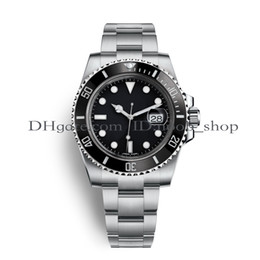 Wholesale mens divers - AAA Luxury Mens Watches Top Luxury Brand Watch Quality Asia 2813 40mm 116610 Stainless Steel Automatic Mechanical Watches Waterproof 30M
