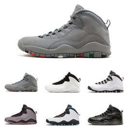 Wholesale Stealth Shoes - On Sale 10 Basketball Shoes I'm Back Stealth Cool Grey Powder Blue Women Men s Shoes 10s X Man Outdoor Sport Authentic Sneakers