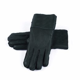 Wholesale Dark Purple Gloves - Harssidanzar Womens Winter Shearling Coating Gloves