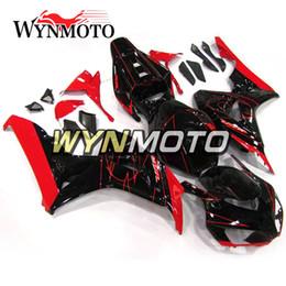 grün 1998 zx7r Rabatt Fertigen Sie komplettes Verkleidungskit für Honda CBR1000RR 2006 2007 CBR 1000RR 06 07 besonders an Einspritzung-ABS-Plastikmotorrad-Verkleidungen schwärzen mit roten Streifen
