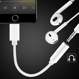Wholesale audio jack converter - Audio Converter For Lightning To 3.5mm Headphone Jack Adapter Cable Play Music Universal For iPhone 5 6 7 8 Plus X