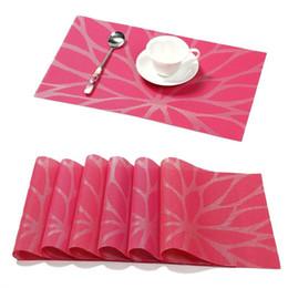 Vinyle antidérapant en Ligne-Napperon PVC Table à Manger Tapis Durable Tissé En Vinyle Cuisine Isolant Anti-Slip Pad Antibactérien Napperons Flamme