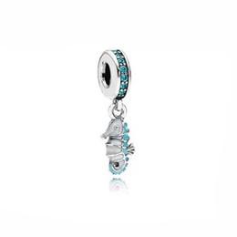 a585f4f4169b perlas del seahorse Rebajas Auténtico 925 Granos de Plata Collar de  Caballito de Mar Tropical Dangle