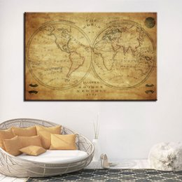 Shop vintage world map wall art uk vintage world map wall art free canvas hd prints poster living room wall art frame 1 piece pcs vintage world map painting earth maps pictures office decor gumiabroncs Choice Image