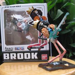 Números ação zero on-line-Série One Piece Toy Action Figures ZERO Brook Boneca Garage Kit Simulação Figura Modelo Toy Presente Para Crianças 30kc WW