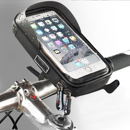 gps telefonhalter für fahrrad Rabatt Handyhalter Universal Bike Mobile Unterstützung Stehen Wasserdichte Tasche Für iPhone X 8 Plus S8 V20 GPS Fahrrad Moto Lenkertasche C18110801