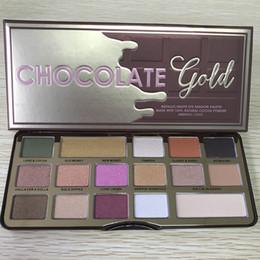 Wholesale Gold Palette - In stock Makeup Palette Chocolate Gold 16 colors Eyeshadow metallic matte eye shadows natutal cocoa powder palette