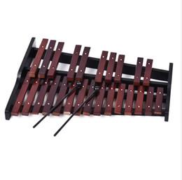 Xilofones de madeira on-line-25 Nota De Madeira Xilofone Percussão Primeiros Inteligência Educacional Desenvolvimento Artesanato Instrumentos de Percussão com 2 Malho Frete Grátis