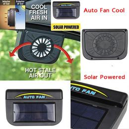 2019 kühlerentlüftung Triclicks Universal ABS Solar Sun Powered Fan Auto Fenster Windschutzscheibe Auto Air Vent Lüfter System Kühler Fenster Abluftventilatoren rabatt kühlerentlüftung