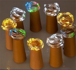 Cubierta de la botella de vino caja de la batería cadena ligera 1 metro 10 lámpara cobre plata color a prueba de agua luces de cadena decoración de vacaciones desde fabricantes
