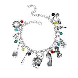 Wholesale Bicycle Day - Stranger Things Charm Bracelet Gun Bicycle Axe Crystal Beads Pendant Bracelets For Women Fashion Jewelry Accessories