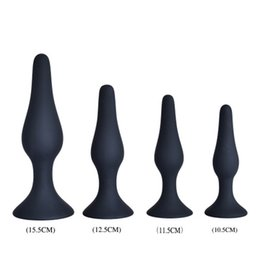 Wholesale Sex Toys For Women Kits - 4Pcs Unisex Masturbator Silicone Anal Backstage Plug Kit Set Sex Toys For Man Woman Flexable Adult Sex Toy Anal Butt Plugs