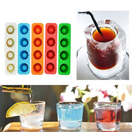 Wholesale ice wine glasses - Novelty cup shape ice tray Summer selling rectangle wine glass ice tray Enjoy cool tool ice mold