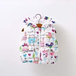 Chaquetas de seda ropa de abrigo online-Muchachas del otoño invierno informal chaqueta del chaleco de abrigo niños Abrigos para niñas chaleco infantil del bebé Chaleco sin mangas de la chaqueta de los niños caliente