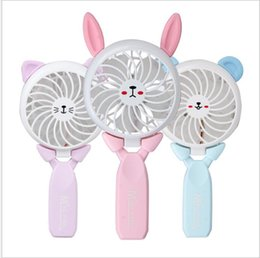 Wholesale Bar Hands - USB Power Foldable Hand Fans Rechargeable Handheld Mini Fan Electric Home Office Outdoor Fans Hand Bar Desktop Fan Cooler KKA5139