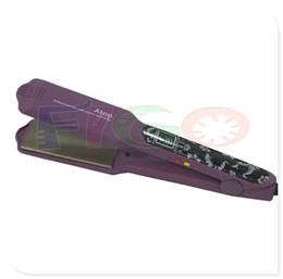"Wholesale Titanium China Hair Straightener - Free shipping High-end fashion thermostatic professional hair straightener flat iron Pro Nano Titanium 1-5 8""Black Purple"