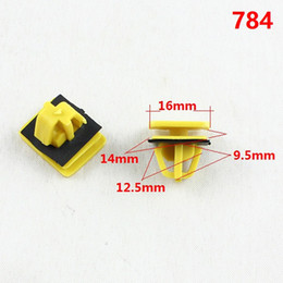 Wholesale Plastic Snap Clips - 784 Auto Door Sill Strip Trim Panel Retaining Clip Snap Clasp Fastener Yellow Plastic Retainer Gasket For Hyundai