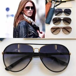 Wholesale Best Leather Coats - 2018 Designer Designer Sunglasses Italian Designer Sunglasses Pilot Frame Full Leather Frame Classic Model UV400 Lens, Best Quality 2887