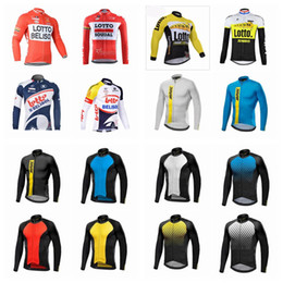 Wholesale Cycling Team Jerseys Cheap - MAVIC LOTTO team Cycling long Sleeves jersey pro team cheap-clothes-china bicycle Outdoor Lycra Multiple Choices sportswear Q42124