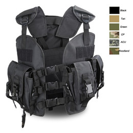 Wholesale tactical vest bags - High Quality Army Jacket Hunting Safety Tactical Vest Clothing Tactical Uniform Armored Security Protection,multi-functional Water Bag Vest