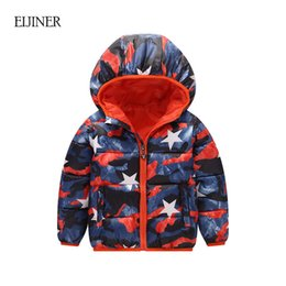 Wholesale toddler pink jacket - Boys Girls Jackets Winter Coats Children Outwear Winter 2017 New Cotton-padded Baby Boys Girls Coat Toddler Kids Winter Clothes