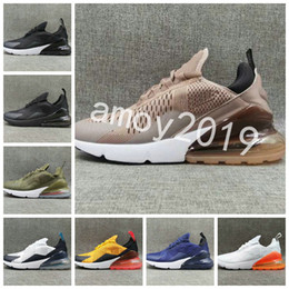 Wholesale mens casual shoes black brown - 2018 New 270 Shoes KPU Running Shoes Plastic Cheap 270s Men Training Outdoor High Quality Mens Trainers Zapatos Casual Sneakers