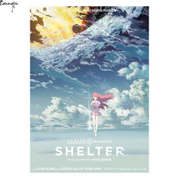 Wholesale Pictures Movie Posters - ZP916 Shelter Porter Robinson Short Anime Movie Hot Art Poster Silk Light Canvas Painting Print For Home Decor Wall Picture