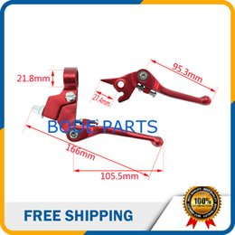 Wholesale Dirt Bike Brake Clutch Lever - Chinese Mini Dirt Bike Parts 50cc 125cc 140cc 160cc CNC Brake Clutch Lever For Dirt Pit Bike CNC-101