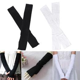 Guantes femeninos de verano online-Un par de chicas de moda Verano largo Medio dedo Protección UV Bloques solares Guantes 4 colores, guantes femeninos de alta calidad